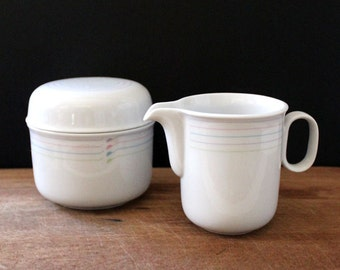 Leslie. 1980s cream and sugar set by Ranmaru, Gallery Collection.