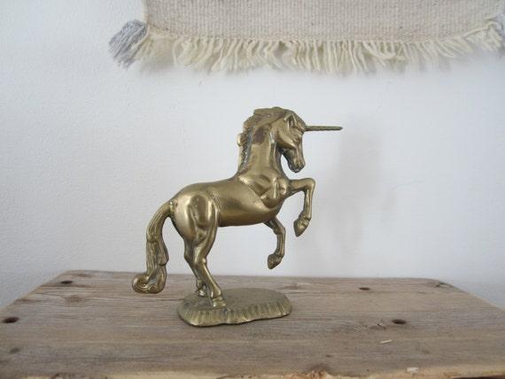 brass unicorns horse figurine horse statue equestrian decor. Black Bedroom Furniture Sets. Home Design Ideas