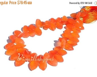 55% OFF SALE Fine Quality Carnelan Faceted Marquise Briolettes Half Strand/4 Inches Long 8x5 - 14x8mm approx