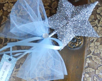 Blue Flower Girl Wand -  Will you be our Flower Girl?