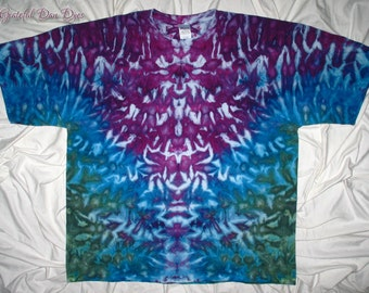 Tye dye shirt, 3XL ice dye, gildan tie dye by gratefuldan, plus size tie dye, unisex, trippy inkblot dyed shirt, music festival