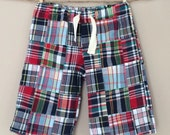 READY TO SHIP - Sunday West - speedy pull-on shorts - patchwork plaid madras