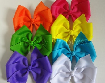 Rainbow Bow Pack - 7 Bows Starter Set - No Slip Clips