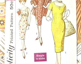 Vintage 1950s Sheath Dress and Stole Pattern - Simplicity 2964