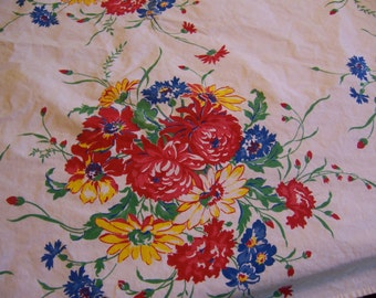chrysanthemums and flowers tablecloth