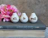 Gifts for her // Vintage white all is well pears // Fun way to say I love you