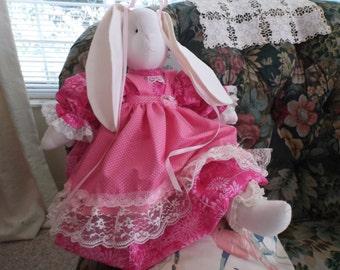 Beautiful  Rose   Stuffed Bunny Rabbit