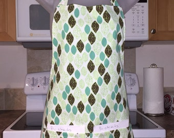 aprons for women - womens aprons - chocolate mint leaves