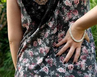 "Chainmail Bracelet, chainmaille bracelet, byzantine bracelet, silver rings bracelet, bridal jewelry, dangle bracelet  - 9.6"" long"