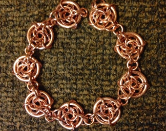 Copper Chainmaille Bracelet For Men And Women