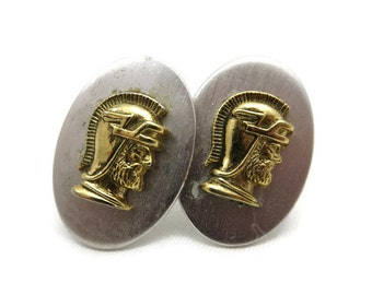 Vintage Roman Soldier Cufflinks - by Shields, Cuff Links, Mens Accessories