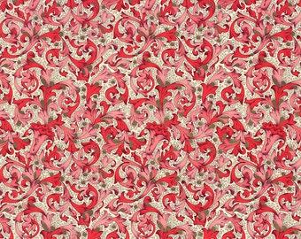 Traditional Florentine Print Italian Paper in Red Tones ~ Carta Fiorentina Italy  F018