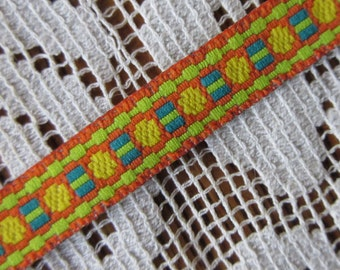 3 Yards Woven Folkloric Costume Traditional Geometric Jacquard Trim  VT 20