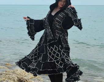 Casteling  8X frankensweater upcycled recycled gypsy coat
