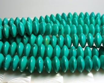 29pc Chinese Turquoise Blue Smooth Rondelle Saucer Spacer Beads 1/2 Strand Large 14 x 7mm Jewerly Jewellery Craft Supplies