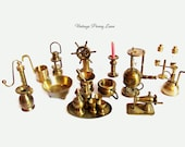 Vintage Brass Metal Figurines / Miniatures Collection / Lot, Made in Holland