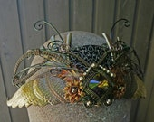 Gothic Steampunk Crystal Winged Goddess Crown