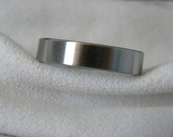 Titanium Ring, Wedding Band, 5mm, size 11.75, Satin, Clearance