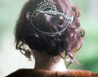 Essence of Victoriana-Haute Couture Rhinestone Hair comb Headpiece-CRBoggs Original Design