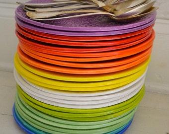 Violet Wobbly Plate - MILLEFLEURS pattern - dinner plate - ceramics - Wobbly Plates Series