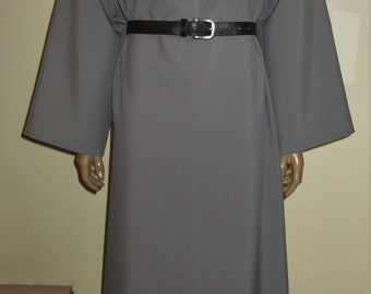 "Reduced to Move! Ready Made Grey Two Piece Monk Habit with Cowl and Hood, Medium, 46"" Chest"