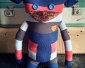 """Sweater Monster """"Wilmer"""" - One Of A Kind / Eco Friendly / Reclaimed / Upcycled Stuffed Animal"""
