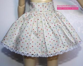 Harajukudoll msd sized short skirt with crochet edges