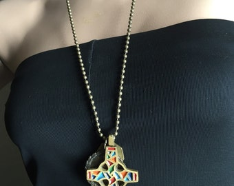 Restyled necklace with Cross and Medal