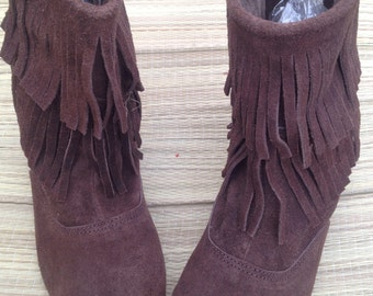 leather fringe boots moccassins suede boots leather fringe boots