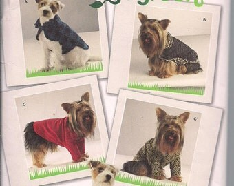 Simplicity 2695 Go Green Dog Clothes in Three Sizes Dog Jackets, Coats, Fleece, Upcycled Dog Clothes XS, S, M