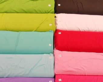 "Just In.... Interlock t-shirt knit brights/black/white 100% cotton fabric 1yd x 80"" WIDE"