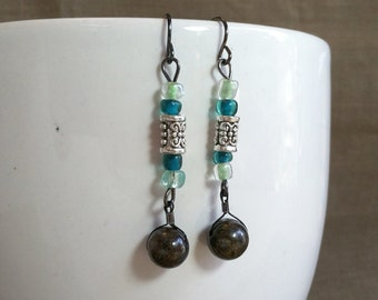 In the Meadow... Extreme Decaf Earrings .. FREE SHIPPING
