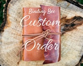 Custom order for Alexis B - final payment of custom leather journal with cross
