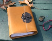 Leather Journal with Lock and Key by Binding Bee