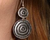 Gypsy earrings, silver earrings, long earrings, gift for her, bohemian earrings, Gypsy silver jewelry