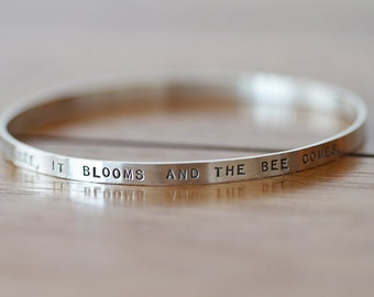 Sterling Silver Personalized Bangle (E0601)