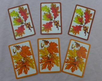 Vintage Autumn Leaves Playing Cards