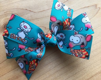 Toopy and Binoo Inspired Hair Bow - Toopy and Binoo bow,  Toopy bow, Party Favor, Toopy and Binoo Party, Toopy and Binoo Birthday