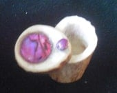 Pink Abalone Shell Carved Shed Elk Antler Box  Small Size Cruelty Free Antler Shell Inlay OlyTeam