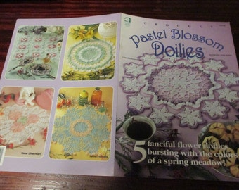Doily Thread Crochet Patterns Pastel Blossom Doilies House of White Birches 101141 Crocheting Pattern Leaflet