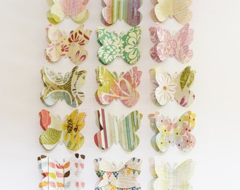 Varenna - decorative push pins /thumb tack or memo clips - large paper butterflies - made to order