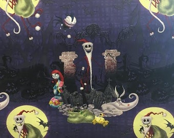 Disney's The Nightmare Before Christmas Santa Jack Fabric By The Yard