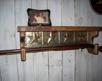 Gun Rack Wall Shelf Western Furniture Shelves