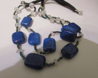 Double lapis necklace