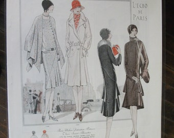 "FAS-L 132    ""L'Echo De Paris...""   Pattern Fashion Ad - September  1928"