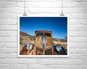 Old Truck Photograph, Farm Truck, Vintage Truck, Country Art, Country, Rural, Husband Gift, Boyfriend Gift, Black and White, Car Art