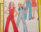 Super Mod 70s Groovy Brady Bunch Girls Wrap Around Jumpsuit, Make It Tonight Collection, size 6, excellent condition