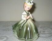 """Southern Belle Napco Girl Planter 6"""" Vintage Napcoware"""