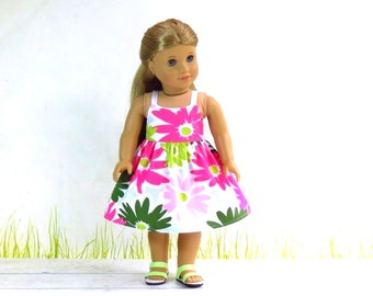 American Girl Clothes M2M Gymboree Doll Dress and Strappy Sandals, Daisy Delightful Dress