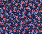 SALE Rosa Navy - Les Fleurs - Anna Bond Rifle Paper Co - Cotton + Steel - 8004-02
